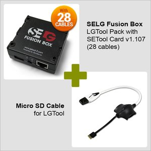 SELG Fusion Box Standard Pack with SETool Card v1.107 (28 cables) + Micro SD Cable for LGTool