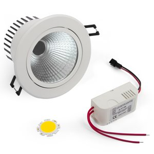 LED Downlight DIY Kit COB 5 W (cold white)