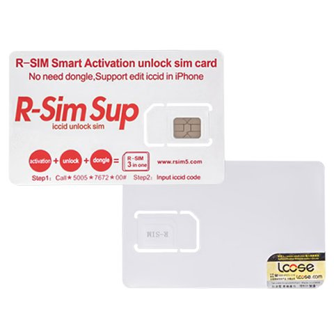 R-SIM Supreme Smart Activation Unlock Card for iPhone X / XS / XS Max / XR