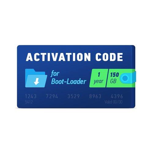 Boot-Loader 2.0 Código de activación (1 año, 150 GB)