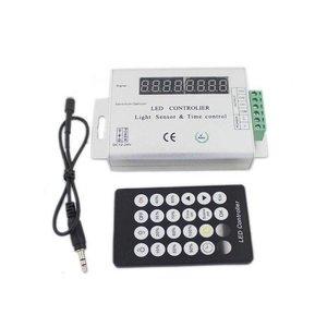 Контроллер-таймер с ИК пультом HTL-049 (RGB, 5050, 3528, 144 Вт)