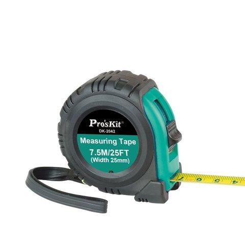 Рулетка вимірювальна Pro'sKit DK 2042 з магнітним наконечником 7,5 м