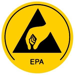 Предупреждающие наклейки об антистатической безопасности Warmbier 2850.10