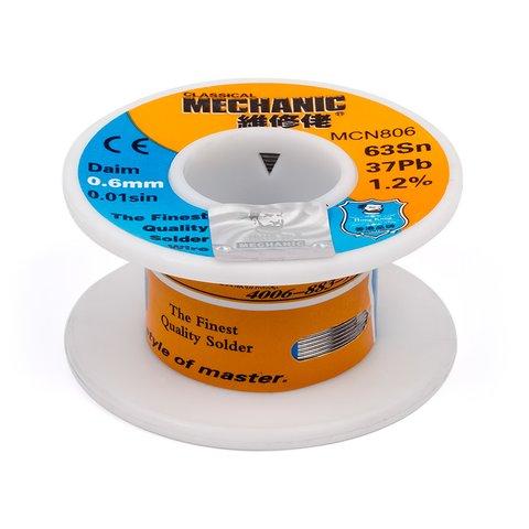 Припой Mechanic MCN806, sn 63%, pb 37%, 50 г, 0,6 мм