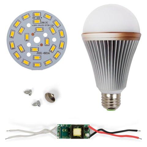 Комплект для збирання світлодіодної лампи SQ-Q24 12 Вт (теплий білий, E27), регулювання яскравості (димірування)